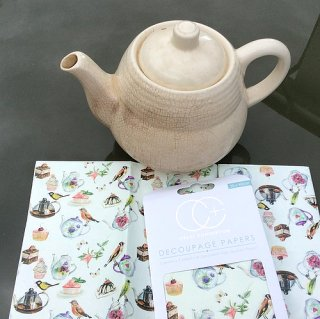 3er Set Decoupage Papier Tea Party 35x40 cm