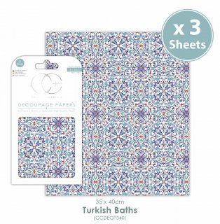 Decoupage Papier 3er Set 35x40 cm Türkisches Bad