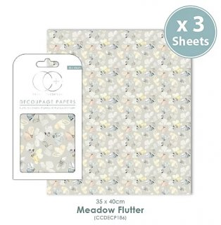 3er Set Decoupage Papier Meadow Flutter 35x40 cm